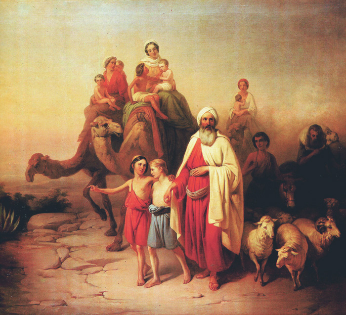 Abram's Journey from Ur to Canaan (József Molnár, 1850)-1 - Copy- resized
