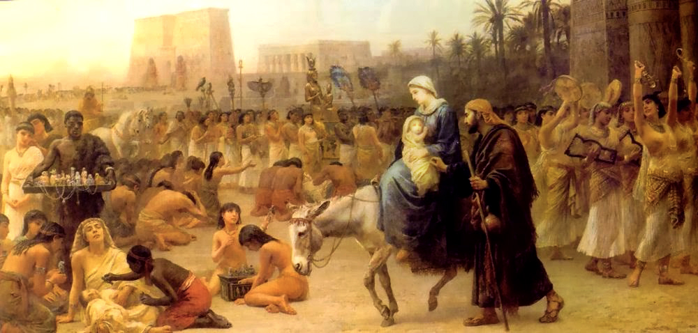 Flight of the Holy Family into Egypt - Edwin Long 1883